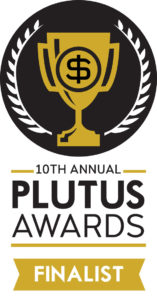 Plutus Awards logo for finalists