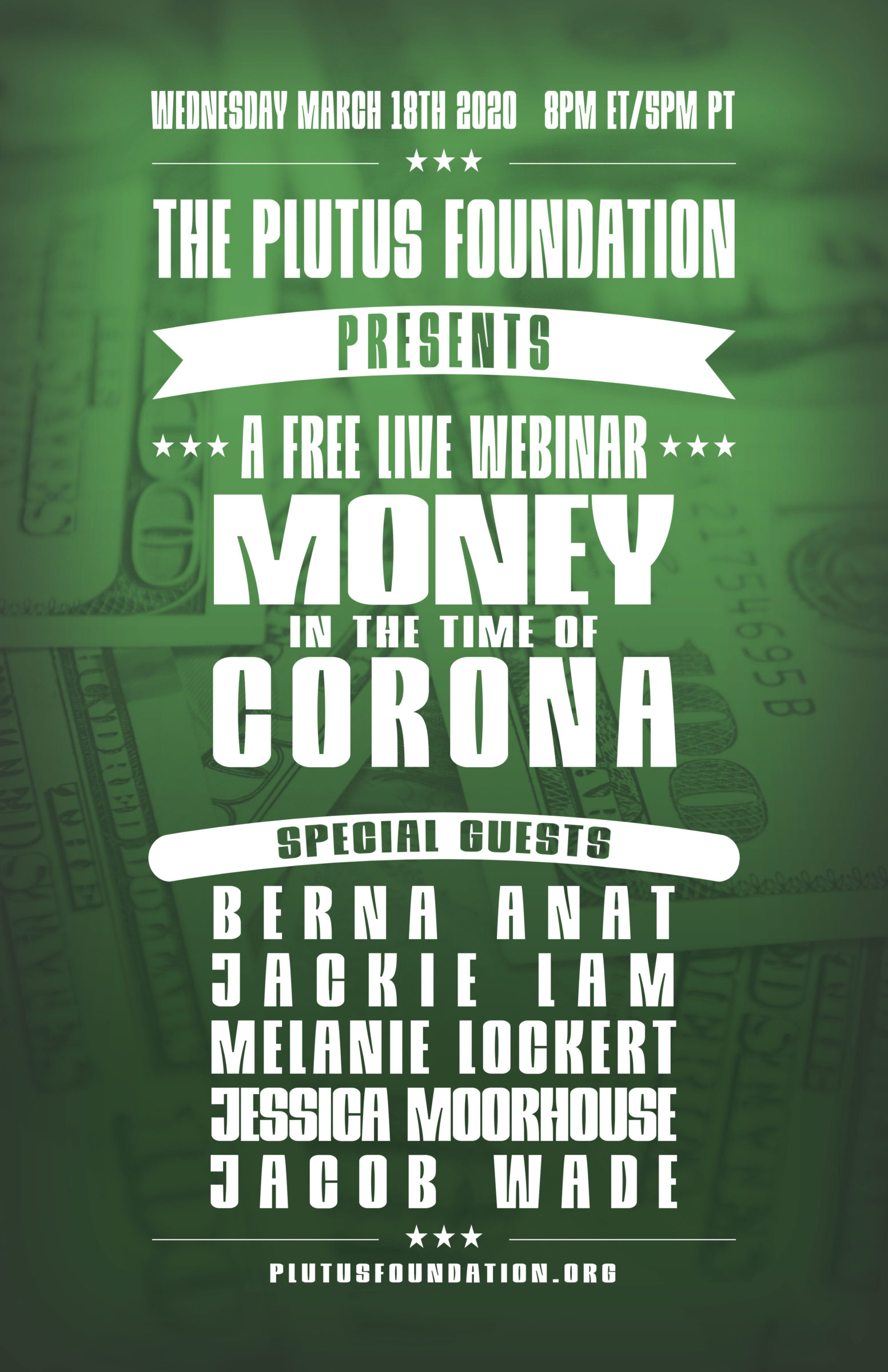 Money in the Time of Corona Poster