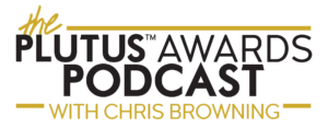Plutus Awards Podcast with Chris Browning Logo