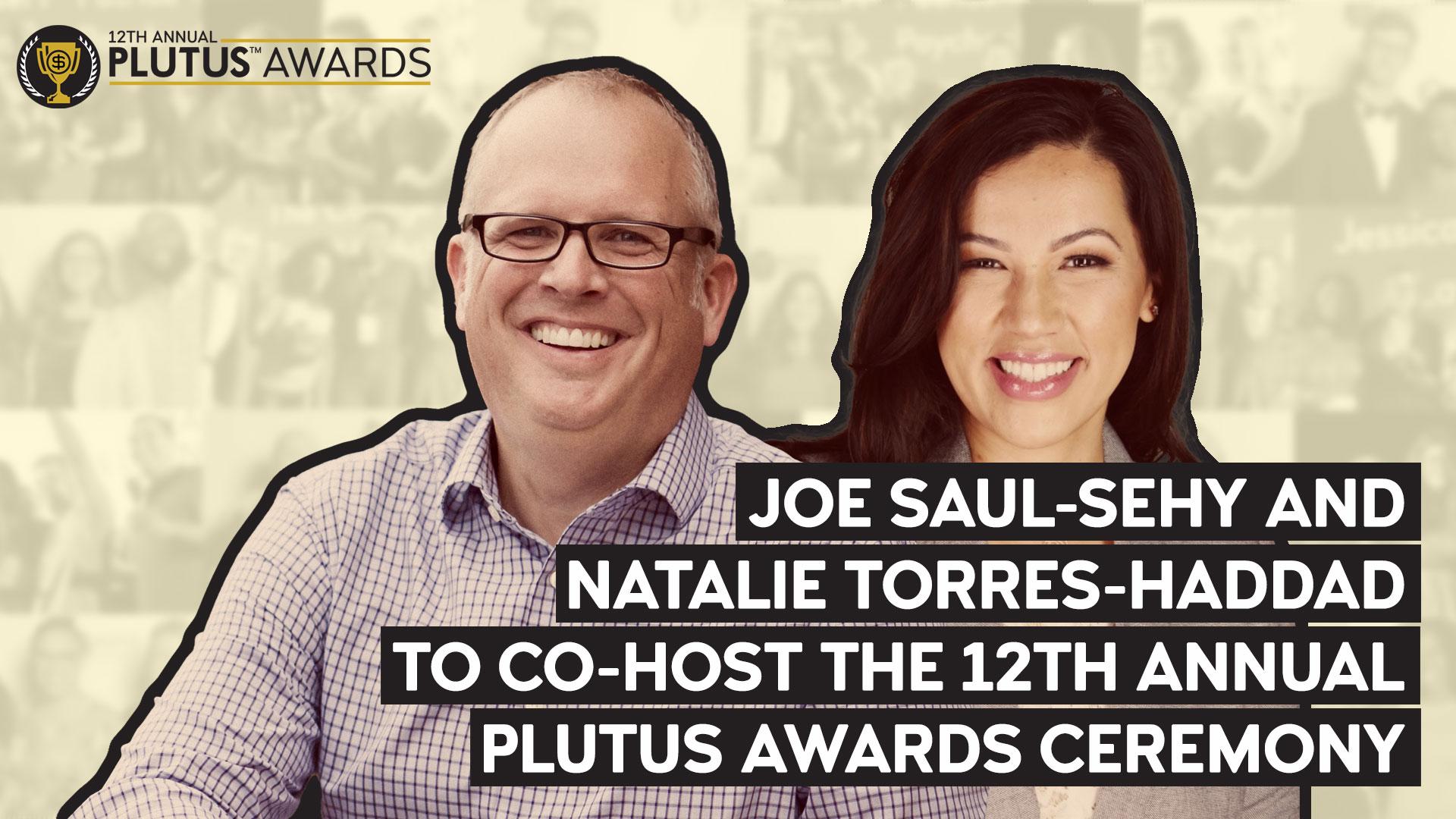 Plutus Awards - Joe Saul-Sehy and Natalie Torres-Haddad