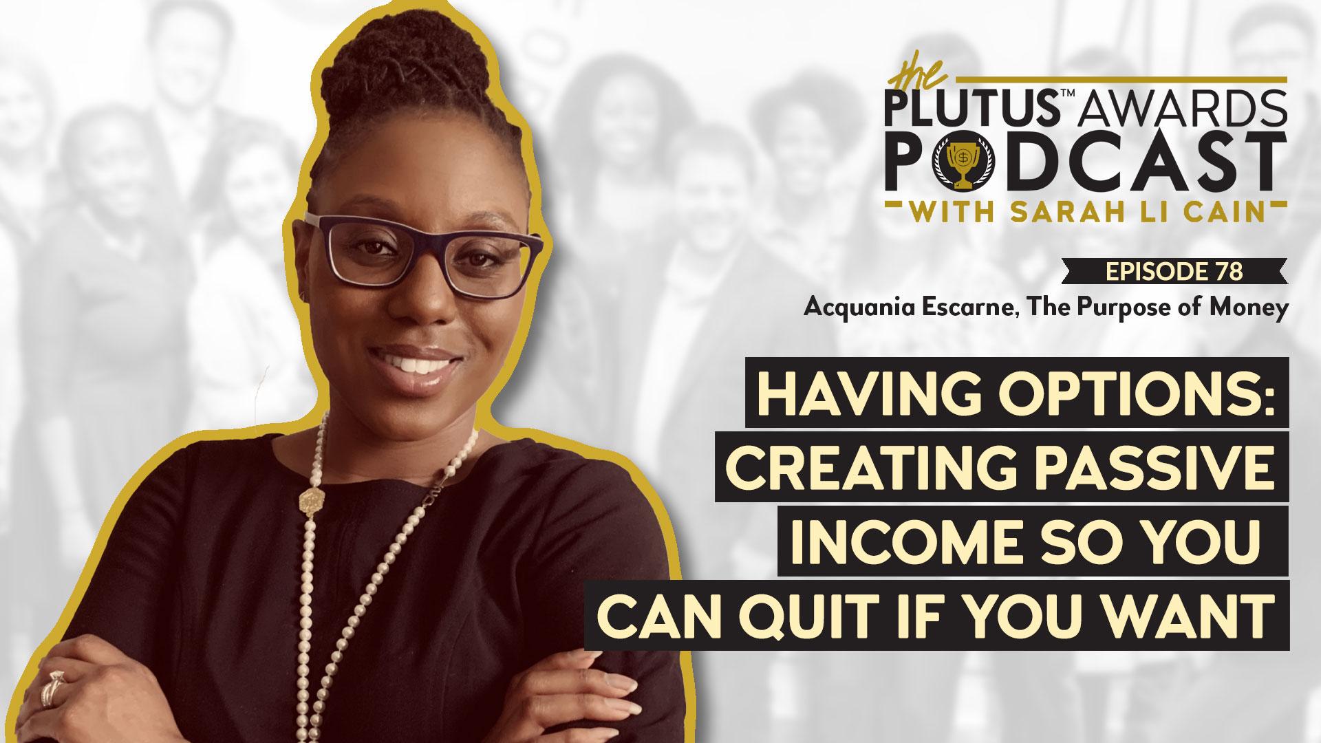 Plutus Awards Podcast - Acquania Escarne Featured Image